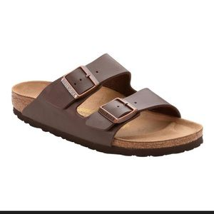 Birkenstock Arizona dark brown leather sandals